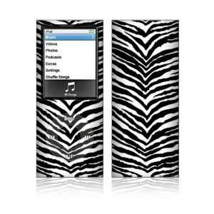 Black Zebra Skin Decorative Skin Decal Sticker for Apple