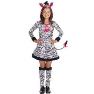 Lets Party By Dreamgirl Lil Wild Thang Zebra Child Costume / Black