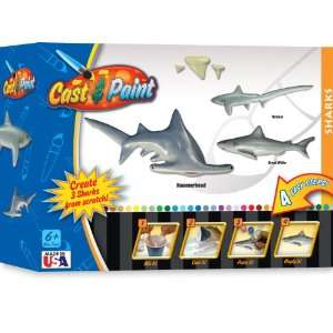 Cast and Paint Shark Casting Kit with BloPens Toys & Games