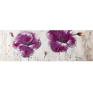 Yosemite Home Decor YA100125B Purple Burst II Hand Painted