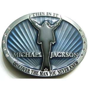 MJ MICHAEL JACKSON THIS IS IT BELT BUCKLE BLUE (BRAND NEW