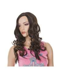Brunette Wig  Copper Highlights  Styleable  Courtney Fashion Wig