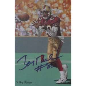 Jerry Rice San Francisco 49ers Signed Goal Line Art: Sports & Outdoors