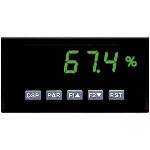 Panel Meter With Milliamp And VDC Inputs; Dc Power; Green Lcd