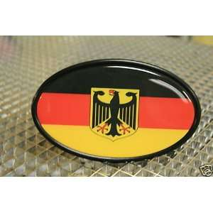 GERMANY DEUTSCHLAND FLAG TOW HITCH COVER WITH 3D DECAL