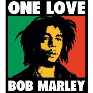 Bob Marley   One Love Decal   Sticker Automotive