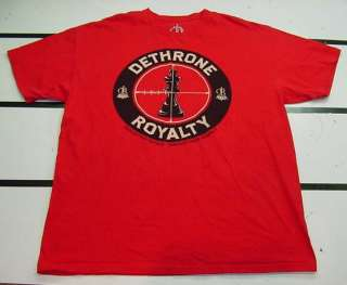 DETHRONE ROYALTY Defeat Thy Rivals Demand Their Respect T SHIRT Sz