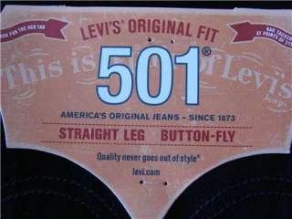 Levis 501 0536 MEN Jean DARK Blue Straight LEG Original