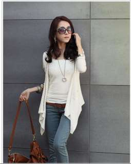 Women Long Sleeve Cardigan Jacket Coat 3 Colors 0744