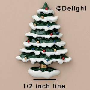 4486 tlf   Christmas Tree with Snow   Flat Back Resin