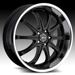 20 x7.5 MSR 096 0962 Black Wheels Rims 4 5 Lug