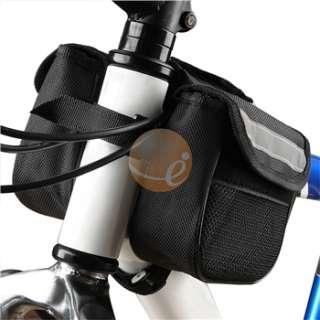 Bicycle Bike Rack Front Tube Bag + 2x LED Wheel Light