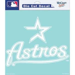Houston Astros Die Cut Decal White