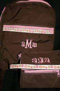 Personalized Monogrammed Backpack AND Lunch Box SET