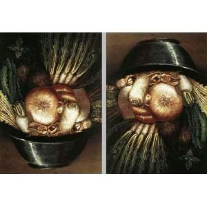 Hand Made Oil Reproduction   Giuseppe Arcimboldo   32 x 22