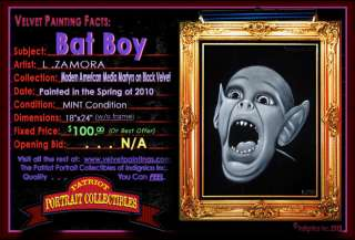 Painting of Bat Boy, Hand Painted in Tijuana, Mexico by LINO ZAMORA