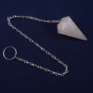 You are considering a beautiful rose quartz crystal pendulum with an