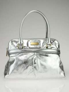 Marc Jacobs Metallic Silver Leather Jen Shoulder Bag