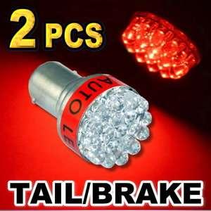 Red 1157 2357 19 LED Bulbs For Tail Brake / Stop Light #B