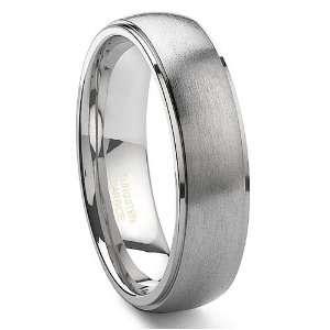 Tungsten Carbide Satin Finish Wedding Band Ring Sz 8.0 SN#078 Jewelry