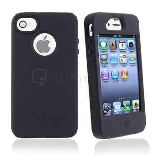Black OtterBox Impact Silicone Case Cover Skin+S Stylus Pen For iPhone