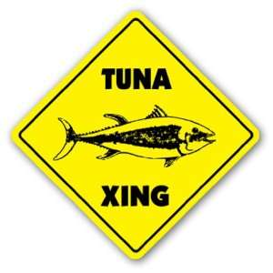 TUNA CROSSING   Sign   xing signs sport fishing boat