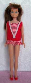 Vintage 1963 Skipper & Skooter Barbie Dolls with Case