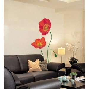 Red Flower Art Wall Decor Mural Sticker PS 2004
