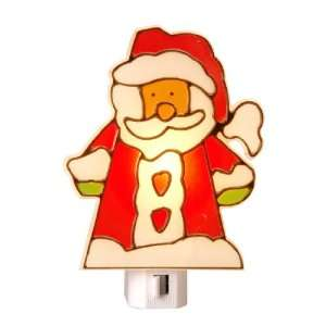 Amerelle 75070 Manual On/Off Stained Glass Santa Night