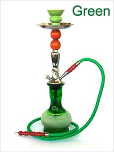 18 Hookah 1 Hose Hooka Huka Shisha Nargila Choose Color BLACK GREEN