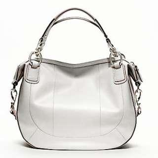 498 Coach 19312 Kristen Woven Leather Satchel Shoulder Bag Corssbody