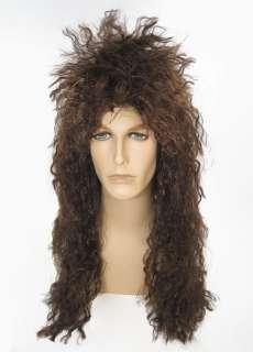 Heavy Metal 80s ROCK Curly Jon Bon Jovi Wig Brown