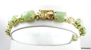 & PERIDOT Chinese BRACELET & EARRINGS   14K Yellow Gold Jewelry Set