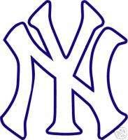NEW YORK YANKEES Logo NY * Window WALL STICKER * Vinyl Car DECAL * ANY