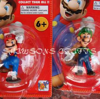SUPER MARIO BROTHERS 5 PCS FIGURES IN ORIGINAL PACKAGE