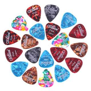 20x Alice 1.5mm Smooth Colorful Celluloid Guitar Picks