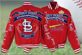 St. Louis Cardinals 2011 World Series Champions Adult Twill Jacket