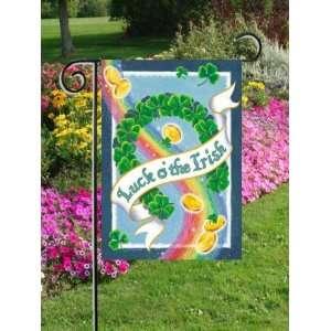 St. Patricks Day Luck of the Irish Mini Flag Patio, Lawn & Garden
