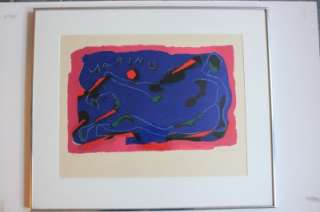 Marino MARINI Hand SIGNED/N Lithograph CAVALLO Museum of Modern Art