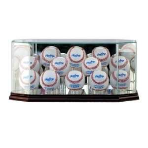 Display Case with Cherry Wood Molding (12 Ball) Sports & Outdoors