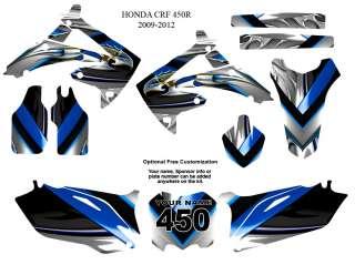 Honda CRF 450R 2009 12 Motocross Bike Graphic Sticker Kit #5700BLUE