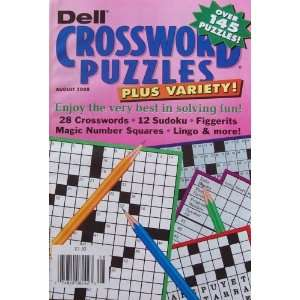 Crossword Puzzles Plus Variety, Aug. 2008 (over 145 puzzles) Books