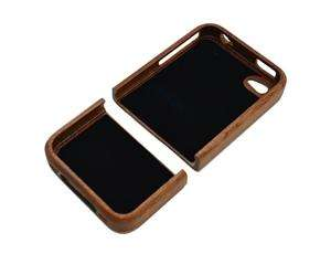Real Carved Camera Natural Wood Wooden Case Cover for iPhone 4 4G 4S
