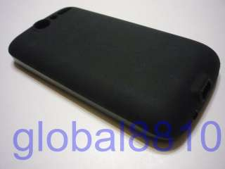BLACK Frosted TPU Silicone Cover Case for HTC Desire BRAVO A8181