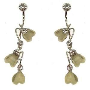 Acosta Jewellery   Ivory Bead & Crystal   Cascading Heart