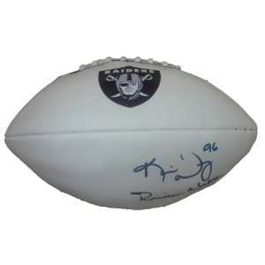 Kamerion Wimbley Autographed Oakland Raiders Logo Football