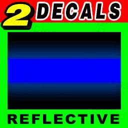 Thin Blue Line REFLECTIVE 3M Vinyl Decal Stickers