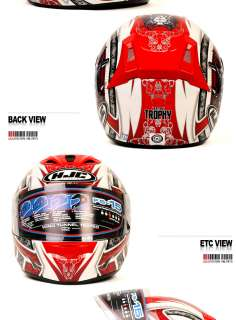 HJC FS 15 Full Face Motorcycle Helmet Trophy Red M