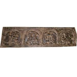Indian Carving Hindu Antique Bed Decor Hand Carved
