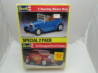 REVELL 2 PACK MODEL T TOURING STREET ROD 34 FORD COUPE